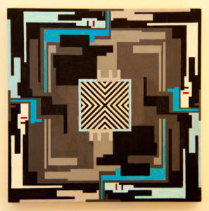2014 Geometric Abstract Painting 1 0514-14